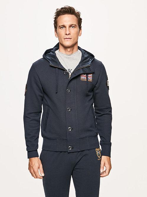 HACKETT Sweat-shirt zippé à capuche détail Grande-Bretagne