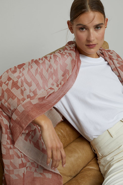 CLOSED - Foulard jacquard en coton