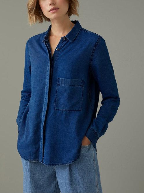 CLOSED chemise en twill indigo