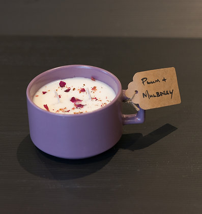 Plum & Mulberry in Purple Cup