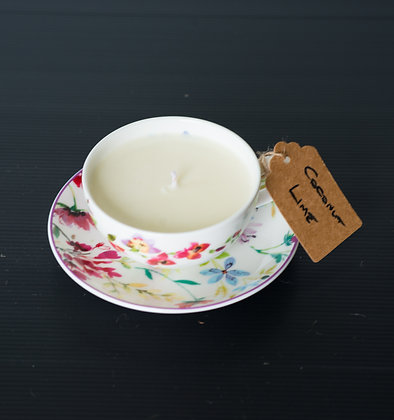 Tea Cup & Saucer with Coconut Lime