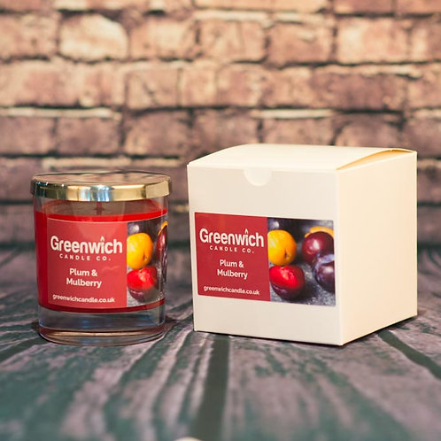 Plum and Mulberry Candle in Clear Glass 300ml