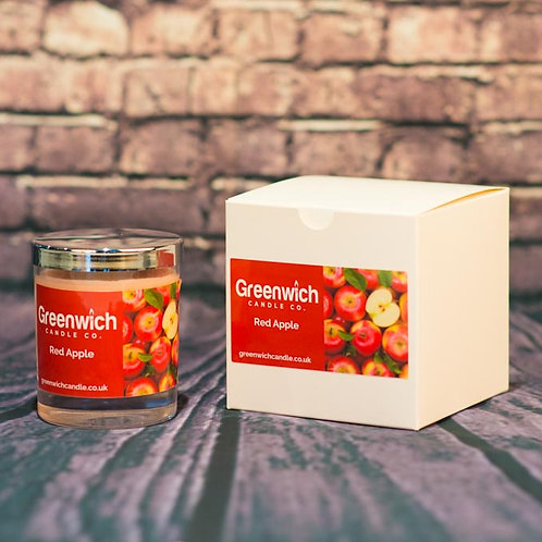 Red Apple Candle in Clear Glass 200ml