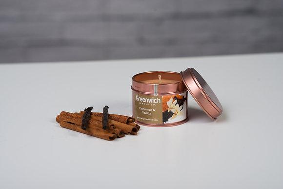 Cinnamon Vanilla Candle in Rose Gold Tin 100ml