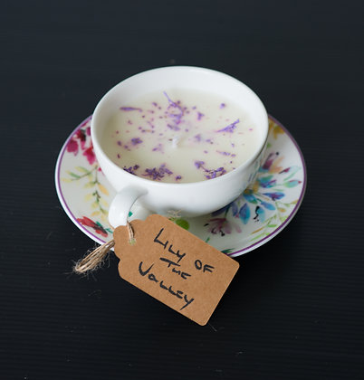 Cup & Saucer with Lily of the Valley