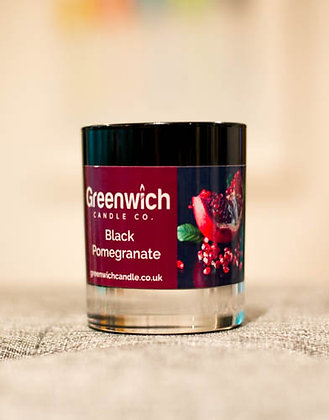 Black Pomegranate Candle in Black Gloss Glass 200ml