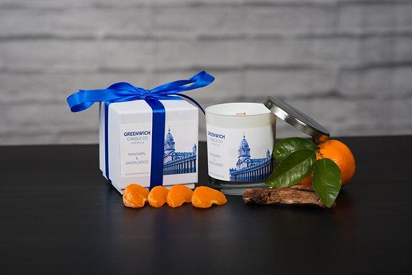 Mandarin & Sandalwood 300ml in Black Gloss