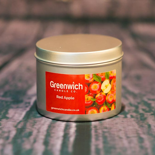 Red Apple Candle in Silver Tin 225ml