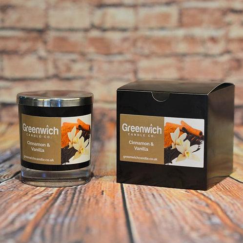 Cinnamon Vanilla Candle in Black Gloss Glass 300ml