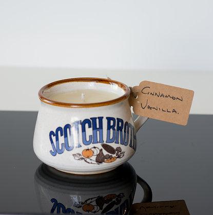 Cinnamon & Vanilla in a Scotch Broth Mug