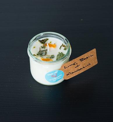 Small Jar with Lime, Basil & Mandarin
