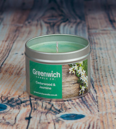 English Pear & Freesia Candle in Silver Tin 125ml