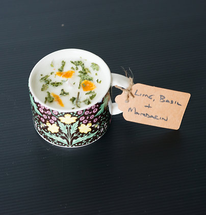 Floral Cup with Lime, Basil & Mandarin