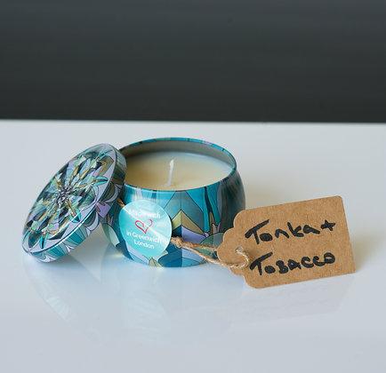 Ornate Tin with Tonka & Tobacco Flower