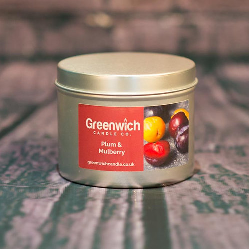 Plum and Mulberry Candle in Silver Tin 225ml