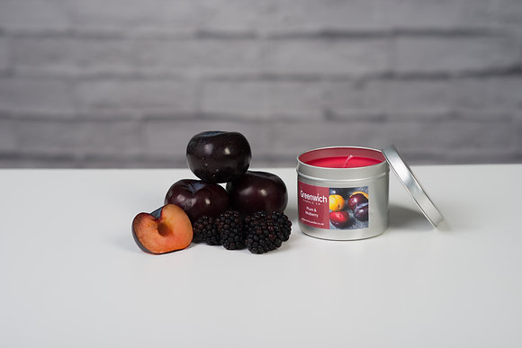 Plum and Mulberry Candle in Silver Tin 125ml
