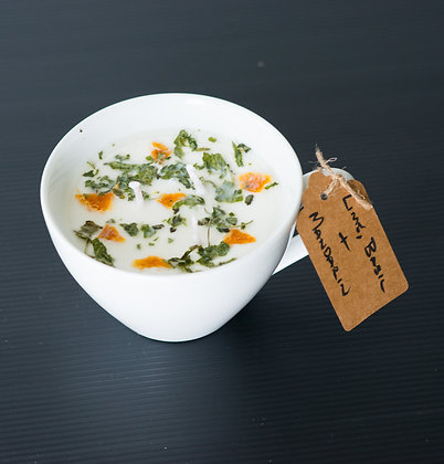 Large Cup with Lime, Basil & Mandarin