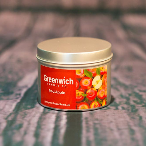 Red Apple Candle in Silver Tin 125ml