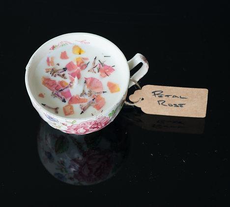 Rose Petal in Pink Rose Tea Cup