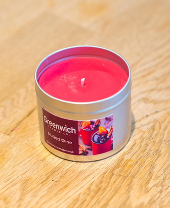 Mulled Wine Candle in Silver Tin 225ml