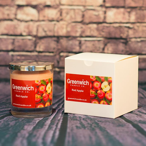 Red Apple Candle in Clear Glass 300ml