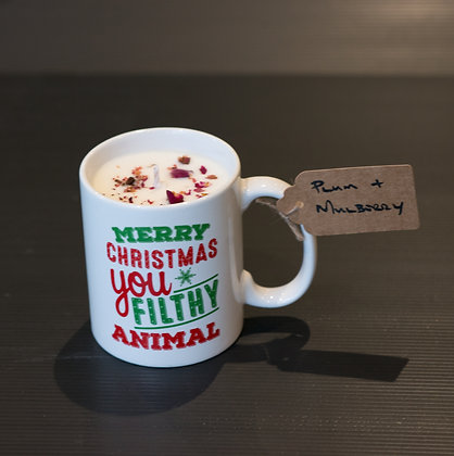 Plum & Mulberry in Christmas Mug