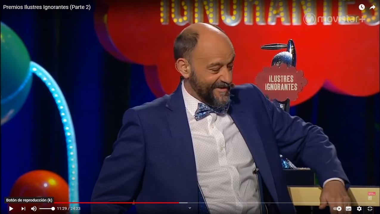 Javier Cansado en Gala Premios Ilustres Ignorantes