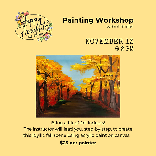 Fall Road Painting (11/13 @ 2pm)