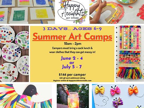 Summer Art Camp #5 (July 5-7)