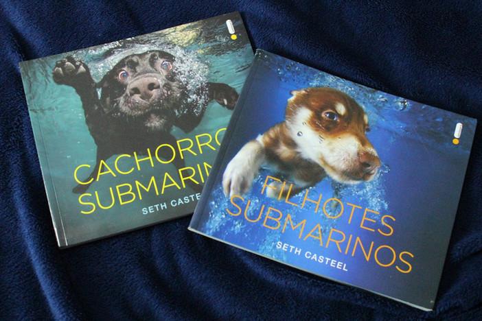 """Risadas e fofuras com os livros de fotos """"Cachorros Submarinos"""" e """"Filhotes Submarino"""