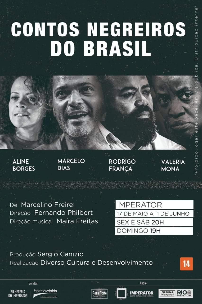 "Cartaz ""Contos Negreiros do Brasil"""