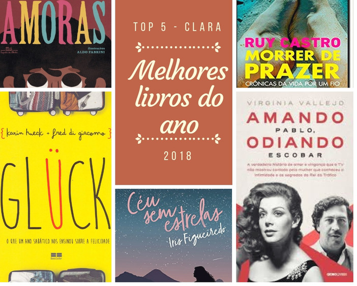 Top 5 | Melhores Livros de 2018 por Clara Mayrink
