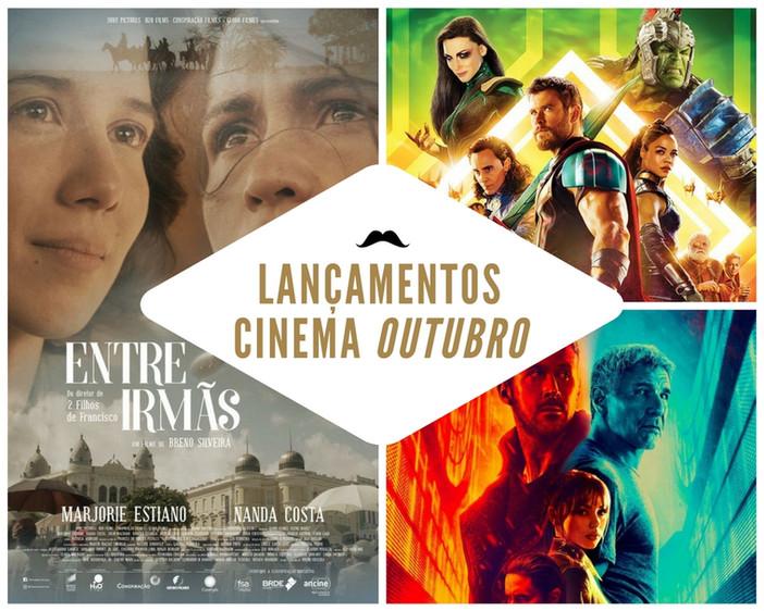 Principais lançamentos de OUTUBRO nos cinemas