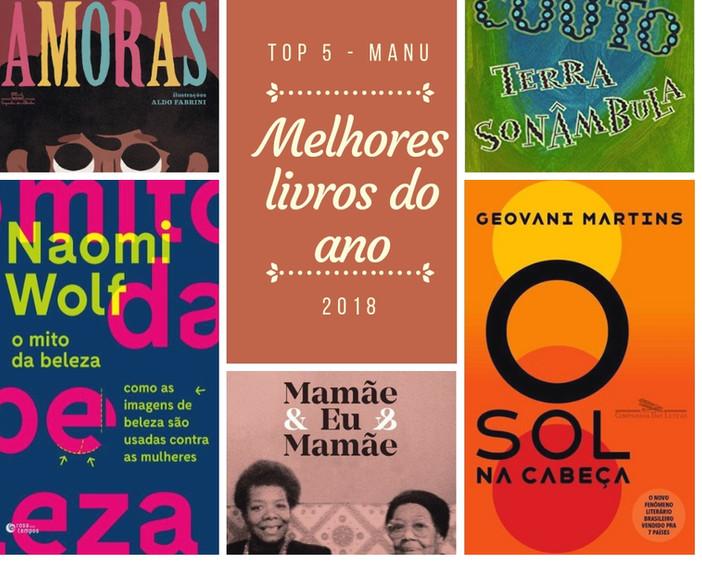Top 5 | Melhores Livros de 2018 por Manu Mayrink