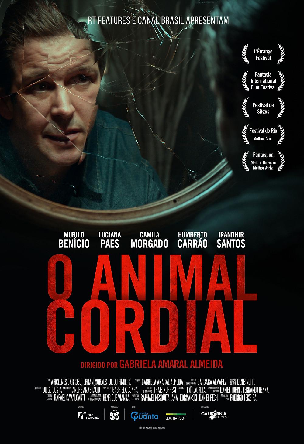 """Pôster de """"O Animal Cordial"""""""