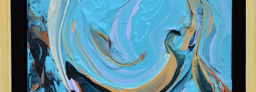 """Surface no. 15 6""""x 6""""x 2"""" -Sold- Acrylic on canvas"""