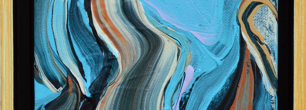 """Surface no. 13 6""""x 6""""x 2"""" -Sold- Acrylic on canvas."""