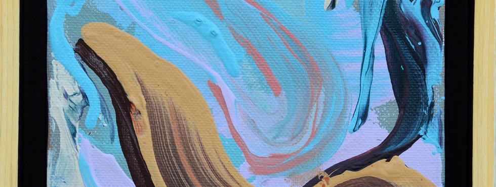 "Surface no. 17 6""x 6""x 2"" Acrylic on canvas."