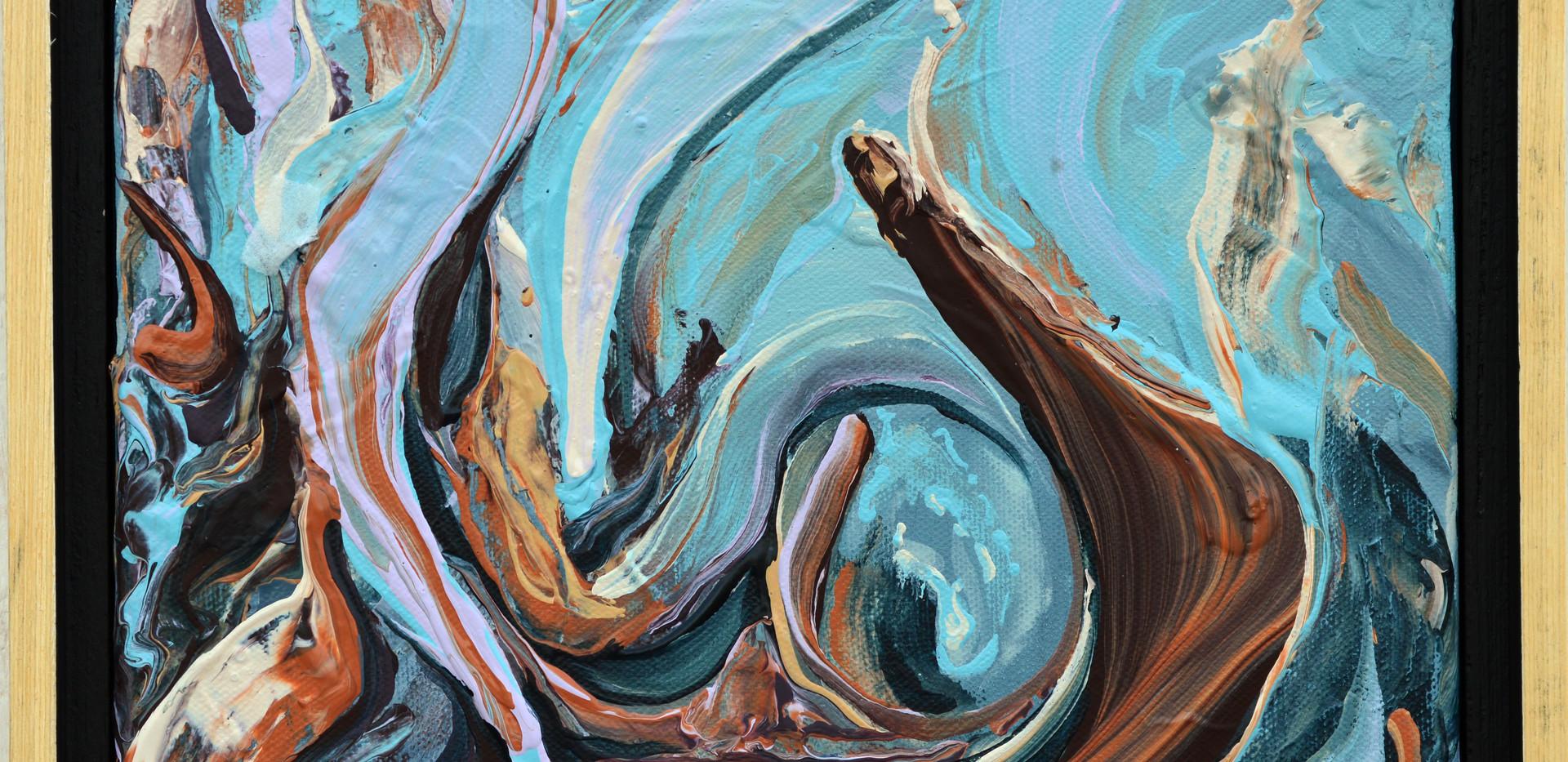 "Surface no. 5 8""x 10""x 0.75"" Acrylic on canvas."
