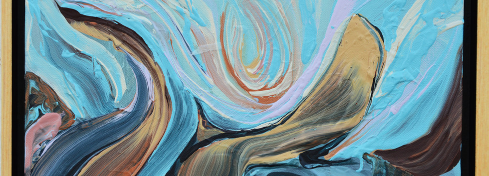 """Surface no. 9 11""""x 14""""x 1.5"""" -Donated- Acrylic on canvas."""