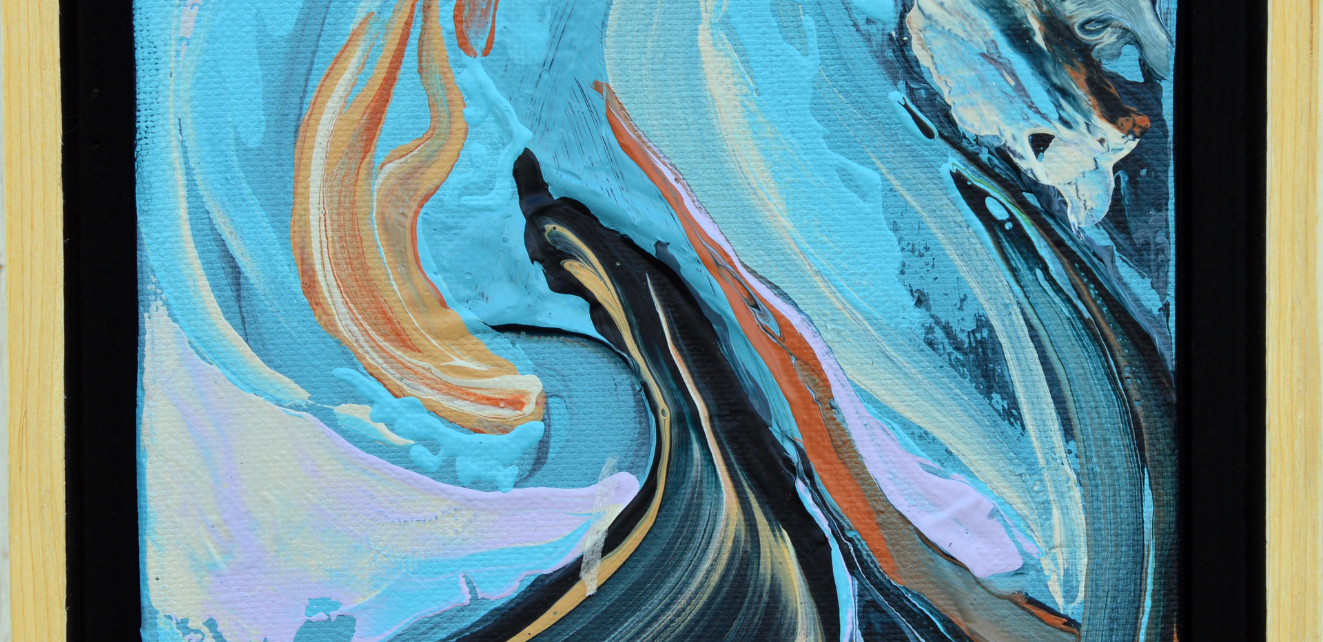 """Surface no 14. 6""""x 6""""x 2"""" -Sold- Acrylic on canvas."""