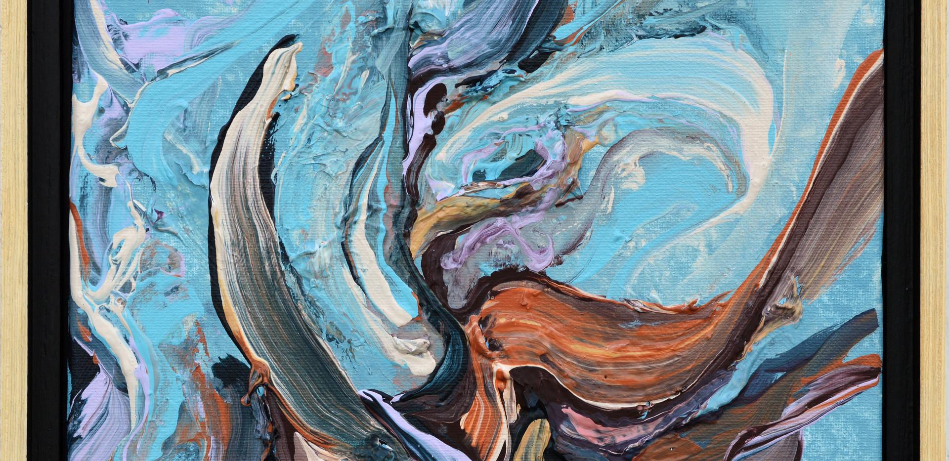 "Surface no. 4 8""x 10""x 0.75"" Acrylic on canvas."