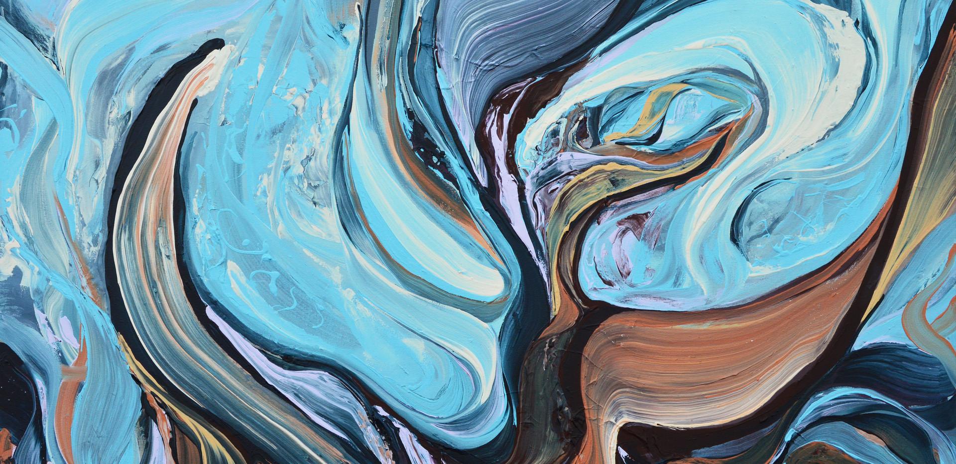 "Surface no. 11 48""x 60""x 3"" Acrylic on canvas."
