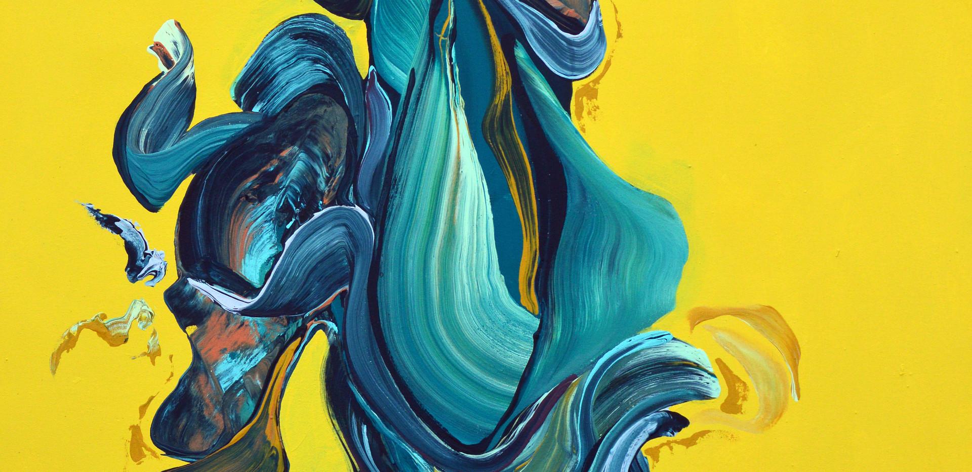 "Adaptation no. 2 72""x 48""x 3"" -Sold- Acrylic on canvas."