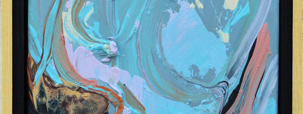 "Surface no. 12 8""x 10""x 0.75"" Acrylic on canvas."
