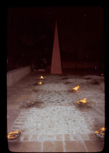 Exposicion detras de la fachada. la Habana.1986