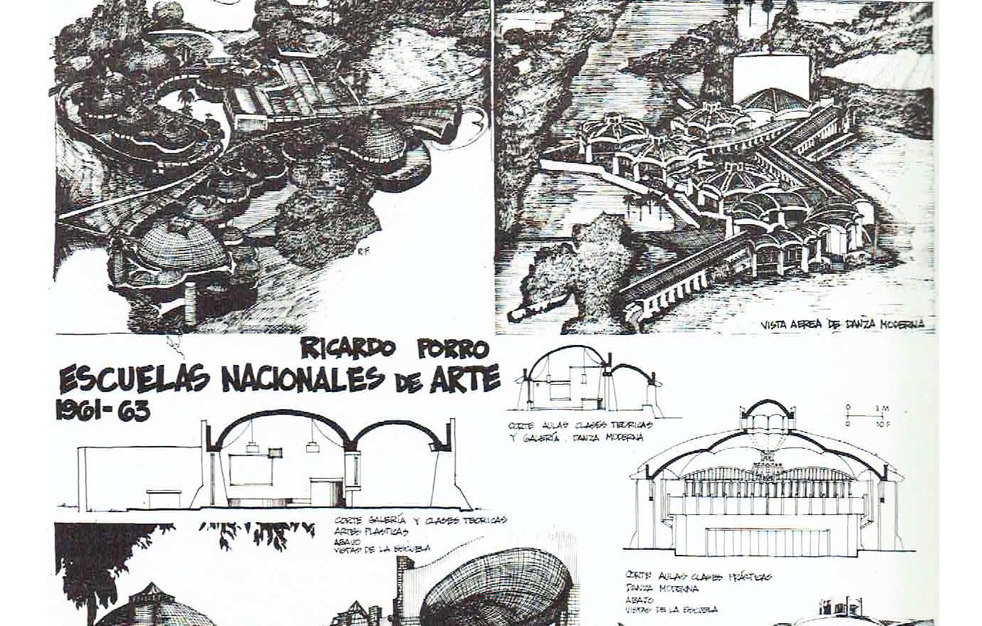 Escuelas Nacionales de Arte de Artes Plasticas y Danza. La Habana.1960 - 1964
