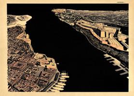 La Habana Arqueologica. Canal de entrada de la bahía. La Habana. Siglo XIX