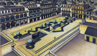 Proyecto renovacion de Plaza Vieja. La Habana 1986