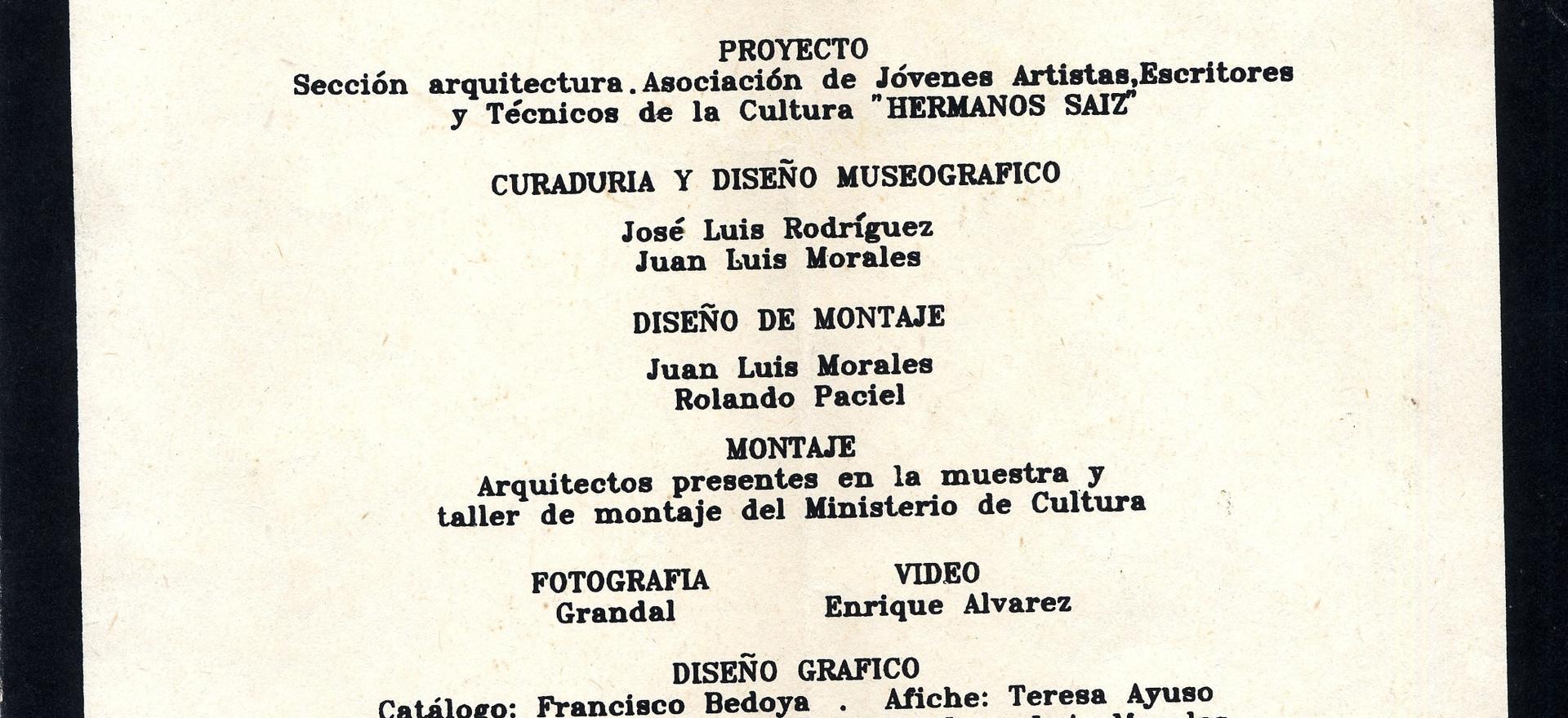 Arquitectura Joven Cubana. Centro de Artes Visuales. La Habana.1990